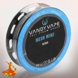 Ni80 Mesh wire 100mesh 5ft (1.8Ω/ft)- Vandy Vape