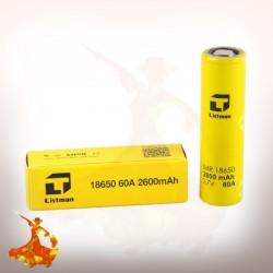 Listman 18650 - 2600mah - 60A