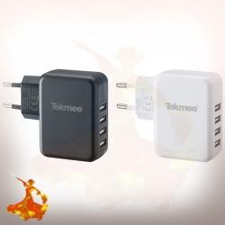 Adaptateur Secteur Mural 4 Ports USB 4.8A Tekmee