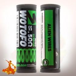 Coil pré fait Ni80 Alien Wires 3*30+38G / 0.50ohm Wotofo